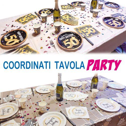 COORDINATI TAVOLA PARTY